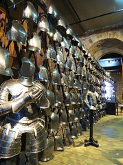 Wall of armour (tom_2014) Tags: uk greatbritain england tower castle history metal wall museum architecture french hall arms britain medieval norman unesco worldheritagesite waterloo keep historical armour toweroflondon weapons whitetower worldheritage breastplate cuirass medievalarchitecture normanarchitecture curiasses