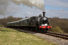 LSWR M7 class 0-4-4 (Kingfisher1951 David Ward) Tags: springgala steamlocomotives swanagerailway lswrm7class044