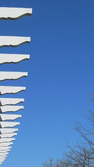 Rafter Tails , Muni Theater (Bill Steffen) Tags: sky white architecture theater outdoor stlouis muni forestpark