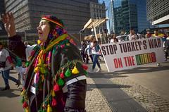 Anti-Erdogan demonstration. Brussels, October 2015. (joelschalit) Tags: brussels turkey war belgium iraq protest middleeast eu demonstration syria genocide kurdistan europeancommission kurds receptayyiperdoğan refugeecrisis