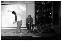 Terry Day/Blanca Regina/Ansuman Biswas/Sayaka Akitsu @ Strange Umbrellas, Foyles, London, 18th March 2016 (fabiolug) Tags: leica blackandwhite bw music london monochrome 35mm blackwhite dance concert live voigtlander gig livemusic performance rangefinder improvisation improv monochrom bookshop biancoenero foyles leicam ansumanbiswas terryday voigtlandernokton35mmf14 voigtlandernoktonclassic35mmf14 voigtlander35mmf14 blancaregina sayakaakitsu mmonochrom leicammonochrom leicamonochrom strangeumbrellas
