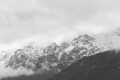 S /\/ O \/\/ (w a n d e r e r ▲) Tags: blackandwhite italy snow mountains nature clouds italia cloudy snowy journey trento d610 50f14