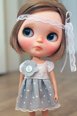 "Petite Doll dress for the exhibition ""Memórias de Infância"". (Petitedoll) Tags: cute doll child dress blythe coats custom veryvicky memóriasdeinfância modusdobrasil"