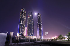 Etihad Towers Abu Dhabi (Mohammed Alborum) Tags: camera water speed canon shopping photography timelapse airport amazon uae ad grand drop millennium emirates abudhabi arab syria splash alain ramadan corvette patrol brids shoping       etihad                  canon550d alaim   leptoceros mohammedalborum aldhabiya