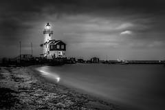 Lighthouse at Night (mcalma68) Tags: longexposure lighthouse seascape monochrome blackwhite hetpaardvanmarken markennetherlands