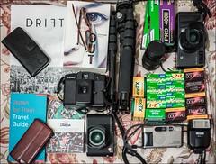 For Japan.... (nickdemarco) Tags: film japan cameras camerabag filmnotdead