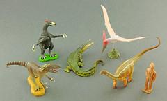 """"""" Dinosaurs of Japan """" by Kaiyodo (RobinGoodfellow_(m)) Tags: japan dinosaurs kaiyodo pteranodon toyotamaphimeia fukuiraptor therizinosauridae tambatitanis"""