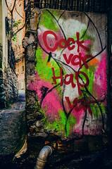kiside olur (Melissa Maples) Tags: streetart art turkey graffiti alley nikon asia text trkiye istanbul nikkor vr afs  trke 18200mm  f3556g  18200mmf3556g d5100 cockvarhapvar