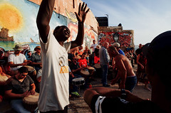 Untitled (nzkphotography) Tags: street travel summer people music streetart beach israel telaviv dancing djembe middleeast streetphotography drumcircle ricohgr compact 21mm 2016 gw3 seriouscompacts