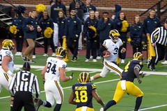 Wilton Speight 2 (RichKD) Tags: motion game college sports football spring action michigan wilton wolverines 2016 speight ann arbor blue go