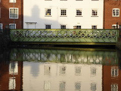 Reflections in the Great Stour in Canterbury (P1040700) (alg24) Tags: uk bridge england reflection building water buildings reflections river reflecting kent flickr bridges canterbury rivers reflective greatstour