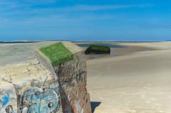 Bunker sur la plage (Quentin Le Hnaff) Tags: mer france soleil nikon tag sable bleu ciel bunker tamron plage atlantique ocan landes