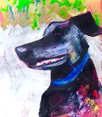 maebe (chartan) Tags: dog paper paint acrylic expressionism traditionalmedium