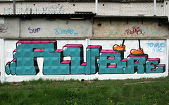 They walked in line. (rubae1) Tags: graffiti ukraine mbk uc ea kyiv faz trainline legz rubae
