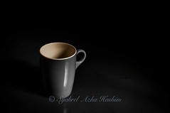 Coffee cup (Syahrel Azha Hashim) Tags: light shadow detail cup colors blackbackground 35mm dark prime lowlight nikon colorful dof floor bokeh coffeecup empty details objects naturallight georgetown single malaysia handheld shallow concept penang minimalism simple householditems pulaupinang d300s syahrel mangotreeplace