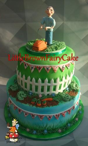 a lawn cake