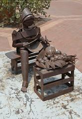 Street Art (Neal D) Tags: sculpture streetart art columbia oldtown cartagena metalsculpture