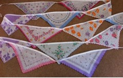 Hankie  bunting (patchwork and lace) Tags: patchworkandlace handmade patchwork cathkidston shabbychic