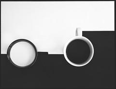 Project A - some sugar? (StadtKind - capture the Bokeh) Tags: blackandwhite bw cup tasse coffee milk kaffee cups schwarzweiss weiss schwarz tassen abstrakt milch helios442 olympusem10markii
