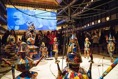 New York City Ballet Art Series - Merry Go Round (UrbanphotoZ) Tags: nyc newyorkcity food fish ny newyork metal colorful manhattan crowd robots polkadots upperwestside cans merrygoround videoscreen scrap salvage lincolncenter onlookers newyorkstatetheater marceldzama newyorkcityballet artseries elienadelman twofemalenudes