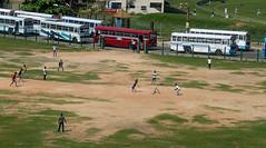 Grass roots cricket (Chalto!) Tags: holiday game bus boys field sport children coach asia transport bat ground cricket vehicle match pitch srilanka ceylon wicket batsman fielder
