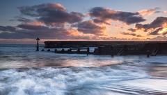 Sunrise & Waves (Squareburn) Tags: seascape sunrise coast waves northumberland groyne seatonsluice watermovement