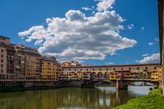Ponte vecchio (jazz_0902) Tags: bridge blue sky colors clouds countryside florence firenze
