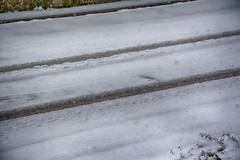 Spuren (shortscale) Tags: schnee spur strasse april