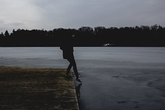 (Andrus Lall) Tags: sea brown lake art film ice nature water vintage out landscape outdoors grey bay pier frozen mood moody shadows exploring horizon like artsy looks blacks washed exploration tension crushed alternative vibe unsaturated