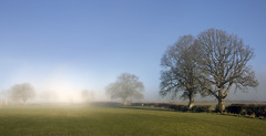 Field Mist (wentloog) Tags: park uk morning blue trees sky panorama cloud mist mountain tree field fog wales canon river landscape outdoors eos nationalpark spring britain pano hill cymru cardiff breconbeacons caerdydd 5d brecon beacons powys mkiii wentloog stevegarrington