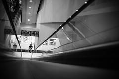 escalator (Clarke Chen ) Tags: street bw lines escalator hypermarket