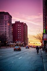 Street. (danielmayes79) Tags: street columbus sunset ohio color outside adventure explore roam vibrance crappypoopookitlens