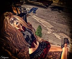 Sabrymoon wearing  Chemical Princess Tribal Mask @ Suicide Dollz and Revange Heels @ Kinky Event (Two Too Fashion) Tags: sexy fashion dark gothic style sensual secondlife stylish tribalmask fashiondress secondlifemodel suicidedollz chemicalprincess kinkymonthlyevent revangeheels
