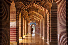Perspective (ALi Rixvi) Tags: old pakistan heritage vintage religious design interior patterns islam details prayer decoration corridor culture mosque historic historical decor sindh masjid islamic shahjahan thatta makli