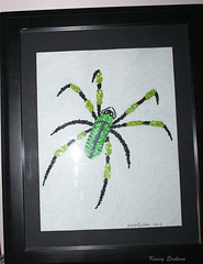 Pointillism and beadwork (KaseyEriksen) Tags: art bug spider beads artwork hobby bead beadwork pointillism