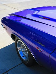 purple reign (Riex) Tags: auto california car design automobile purple muscle wheels violet pony vehicle dodge hood americana 1970 hemi mopar collectible legend coupe rt challenger capot californie 426 aile vehicule 2door kareta plumcrazy carrosserie frontfender g9x