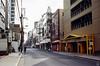 大阪府粧業協同組合 Street (yasu19_67) Tags: street shadow sunlight film japan analog fujifilm osaka 45mm expiredfilm fujicolor filmphotography xtra400 kodakretinas1 filmism schneiderkreuznachreomar45mmf28