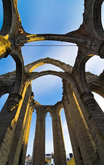 Golden pillars (arkland_swe) Tags: church sweden ruin medieval gotland visby sanktakarin