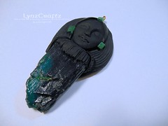 DSCN2673 (LynzCraftz) Tags: art necklace handmade spirit oneofakind goddess polymerclay resin arrowhead pendant amulet renaissancefair swellegant
