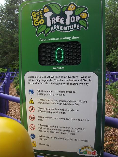 Get Set Go Treetop Adventure - Queue time Board