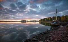 Morning at Emsalo (Jyrki Salmi) Tags: morning clouds sunrise reflections nikon cloudy nikkor jyrki sailingboats d600 1635mm salmi