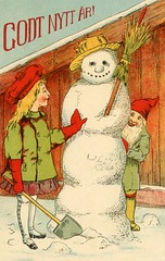 Godt Nytt r (Alan Mays) Tags: old vintage typography holidays antique illustrations newyear ephemera snowmen postcards type newyears 1912 1910s fonts newyearsday typefaces upd january1