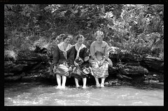 Cool Water (Adventurer Dustin Holmes) Tags: girls wilsonscreek missouri coolwater threegirls threewomen women people ozarks outdoors summer water creek coolingoff coolingdown soakingfeet wilsonscreek150thanniversary 2011 springfieldmo springfieldmissouri republicmo republicmissouri greenecounty event events outdoor midwest uscivilwar americancivilwar civilwar civilwarreenactment reenactment wilsonscreeknationalbattlefield 150thanniversary