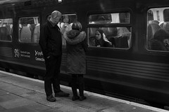 (evans.photo) Tags: aberystwyth people station trains transport parents travel ceredigion candid cymru wales