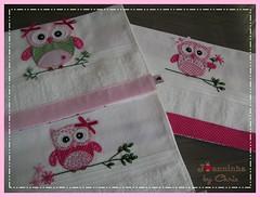 toalhinhas (Joanninha by Chris) Tags: baby handmade embroidery artesanato bordado toalhas feitoamo enxovalbebe aplicaodetecido