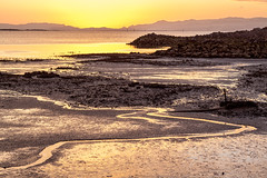 Sunset, Manukau Harbour (russellstreet) Tags: sunset newzealand cloud sun water auckland lowtide onehunga manukauharbour