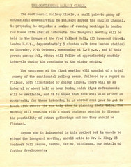 Continental Railway Circle - Notice of 1st Meeting (blackthorne57) Tags: london meeting crc firstmeeting lanceking continentalrailwaycircle fredtallanthall