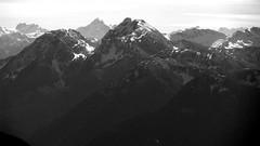 Silver Peak and Isolillock Mtn from Mt Baird (Dru!) Tags: winter blackandwhite bw mountain canada hope bc britishcolumbia alpine cascades northcascades cascademountains cascaderange redoubt hopebc skagitrange moxpeaks silverhopecreek mountbaird isolillocksilver