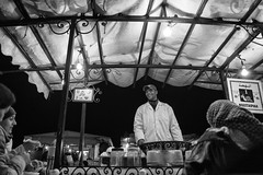 Mustapha, the first... (enzo marcantonio) Tags: africa street leica city travel people blackandwhite bw food night work square outside holidays place outdoor streetphotography eat enzo marocco marrakech souk streetphoto q streetfood summilux ethnicity jamaaelfna marcantonio leicaq enzomarcantonio