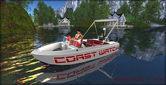 To The Rescue (Boricua Flow) Tags: rescue boat avatar lifeguard avi secondlife neko vamp boricua baywatch coastwatch vamplove